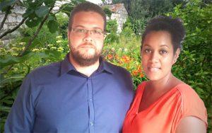 Jérémy Dijoux et son épouse