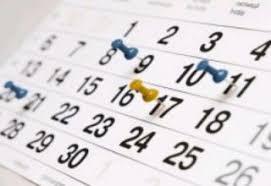 Agenda de la semaine du  07 Janvier  au 14 Janvier 2018