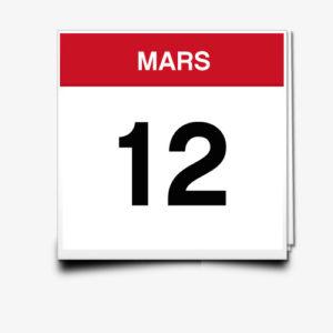 Lecture du 12 Mars