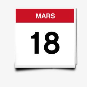 Lecture du 18 Mars