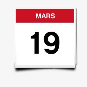 Lecture du 19 Mars
