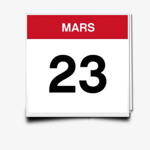 Lecture du 23 Mars