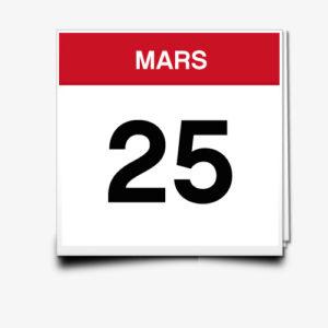 Lecture du 25 Mars