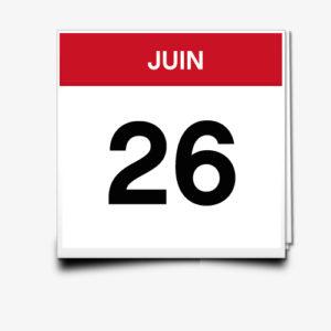 Lecture du 26 Juin