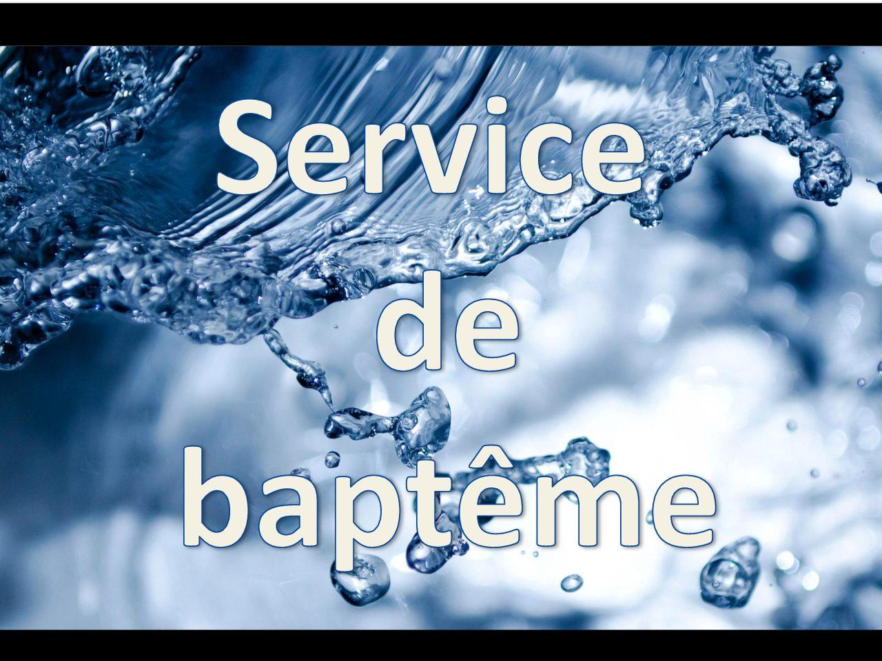 Service de baptême – Saint Pierre