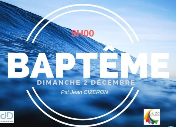 Service de baptême – Saint-Benoît