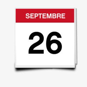 Lecture du 26 Septembre
