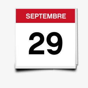 Lecture du 29 Septembre