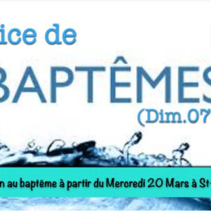 Service de baptêmes St-Louis.