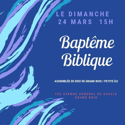 Service de baptême (Gd-Bois / Petite-île)
