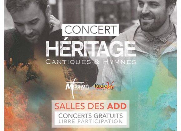 "Concert du groupe ""HÉRITAGE"""