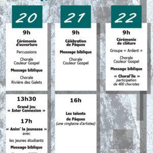 Programme du week-end Lumière de Pâques 2019
