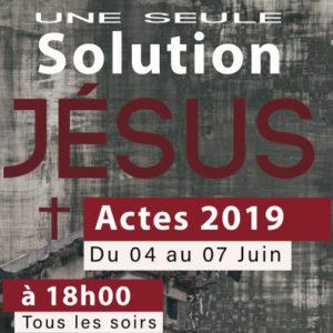 Actes 2019 (L'Évangile en public sur toute l'île.)